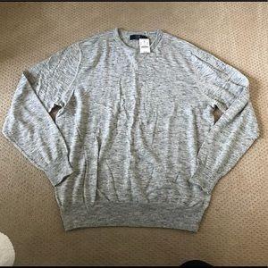 New Men's JCrew Grey Heather Crewneck Sweater XL